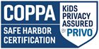 COPPA Kids Privacy Assured by Privo Safe Harbor certification logo